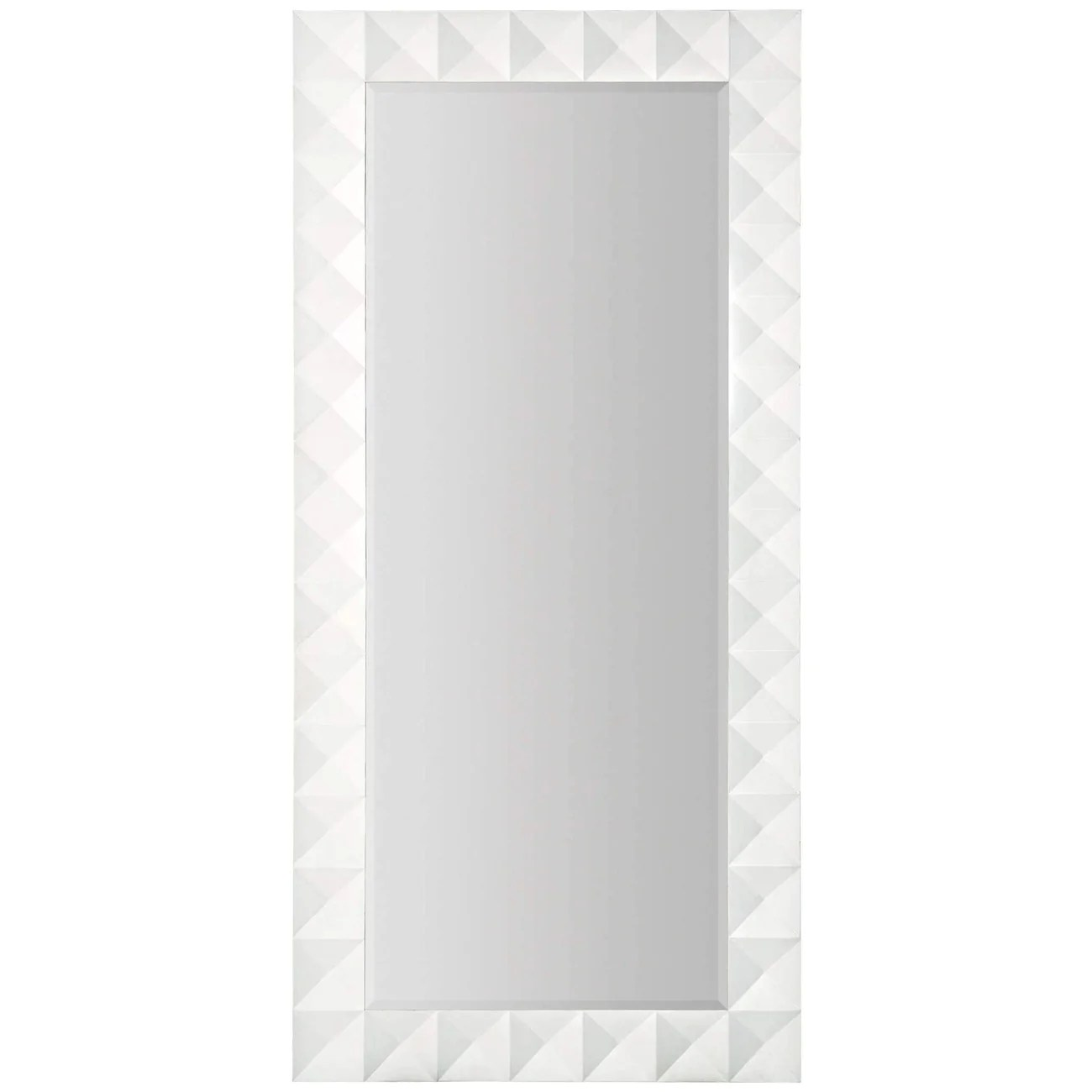 White Floor Mirror Maxwell Geometric Floor Mirror France Son