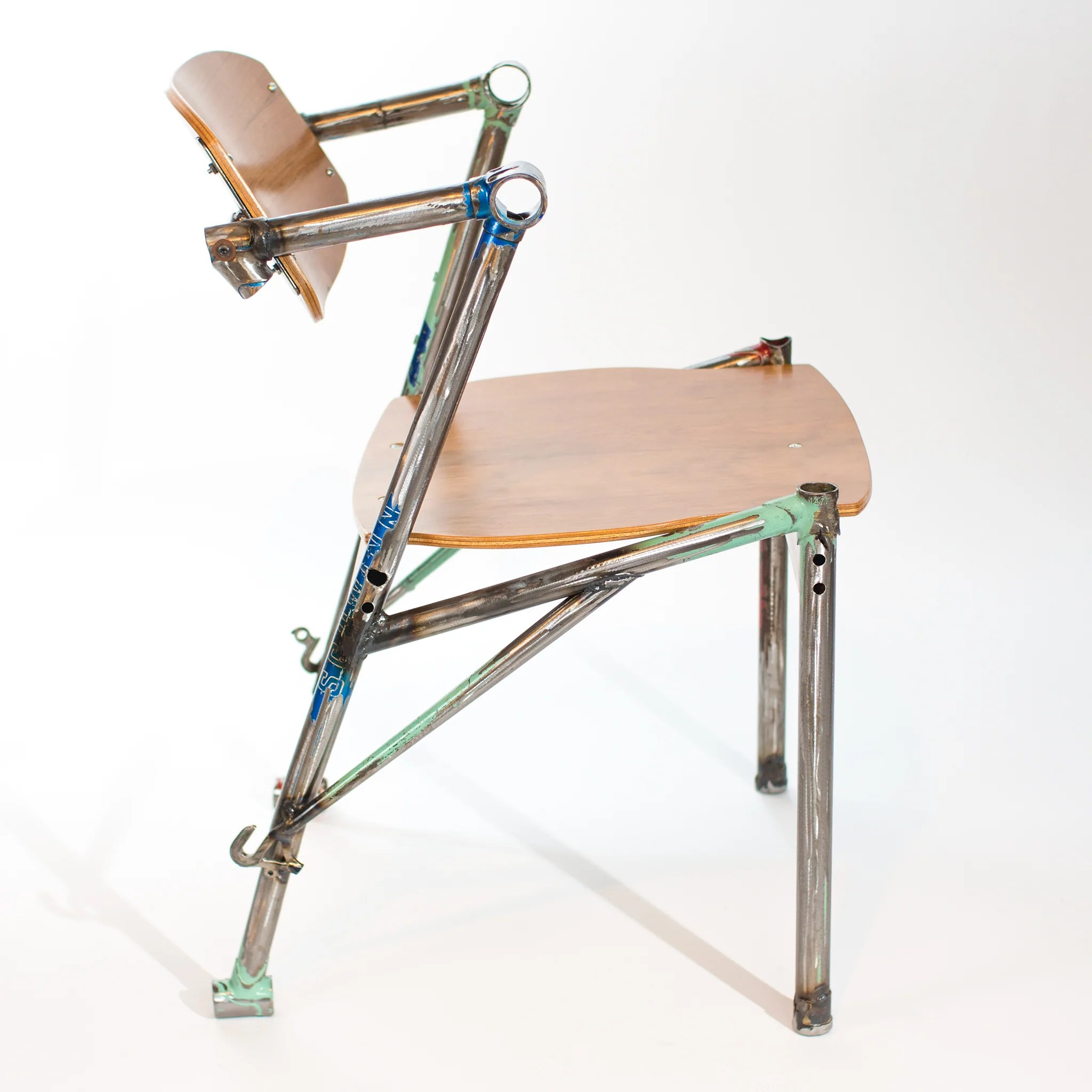 Plywood Furniture Eric Blanpied Furniture Bike Z Chair Recycled Bicycle Frames