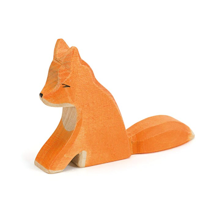Fox Sitting Forest Meadow Ostheimer Wooden Toys