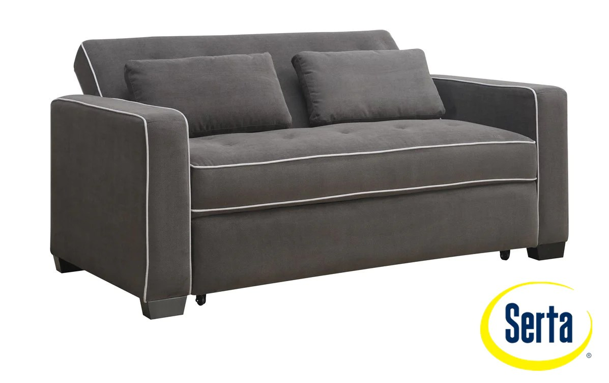 Augustine Sofa With Queen Size Pop Up Bed Grey Leon S