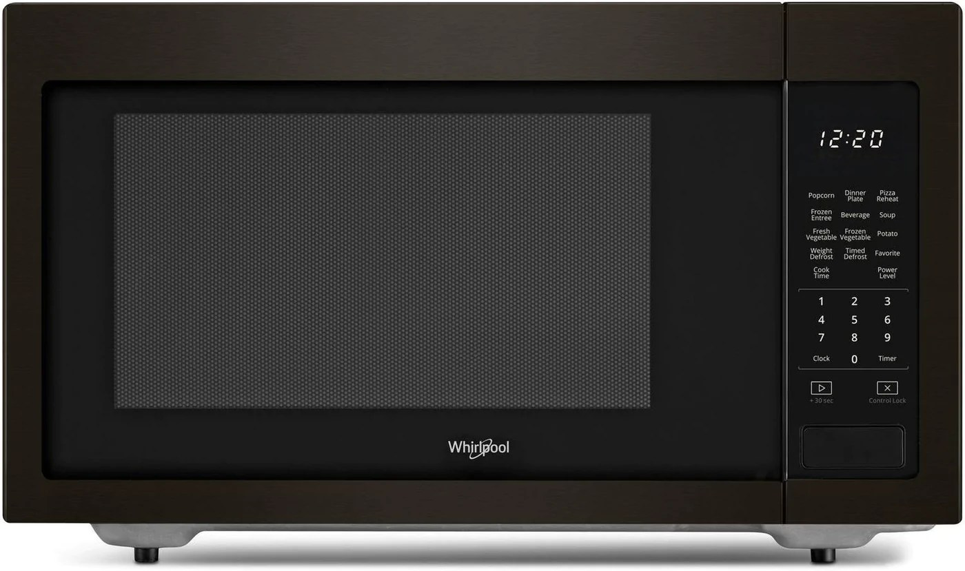 Whirlpool Black Stainless Steel Countertop Microwave 1 6 Cu Ft Ywmc30516hv Leon S