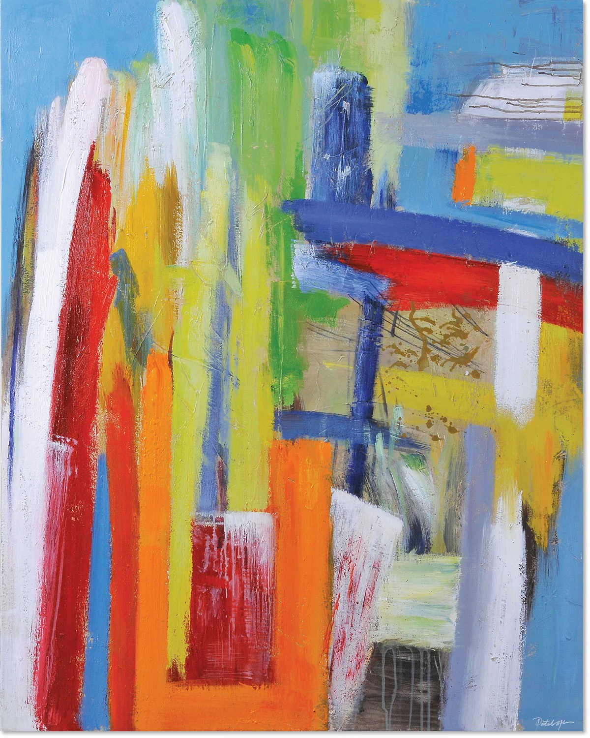 Bright Colours Painting Color Play Canvas Painting 48