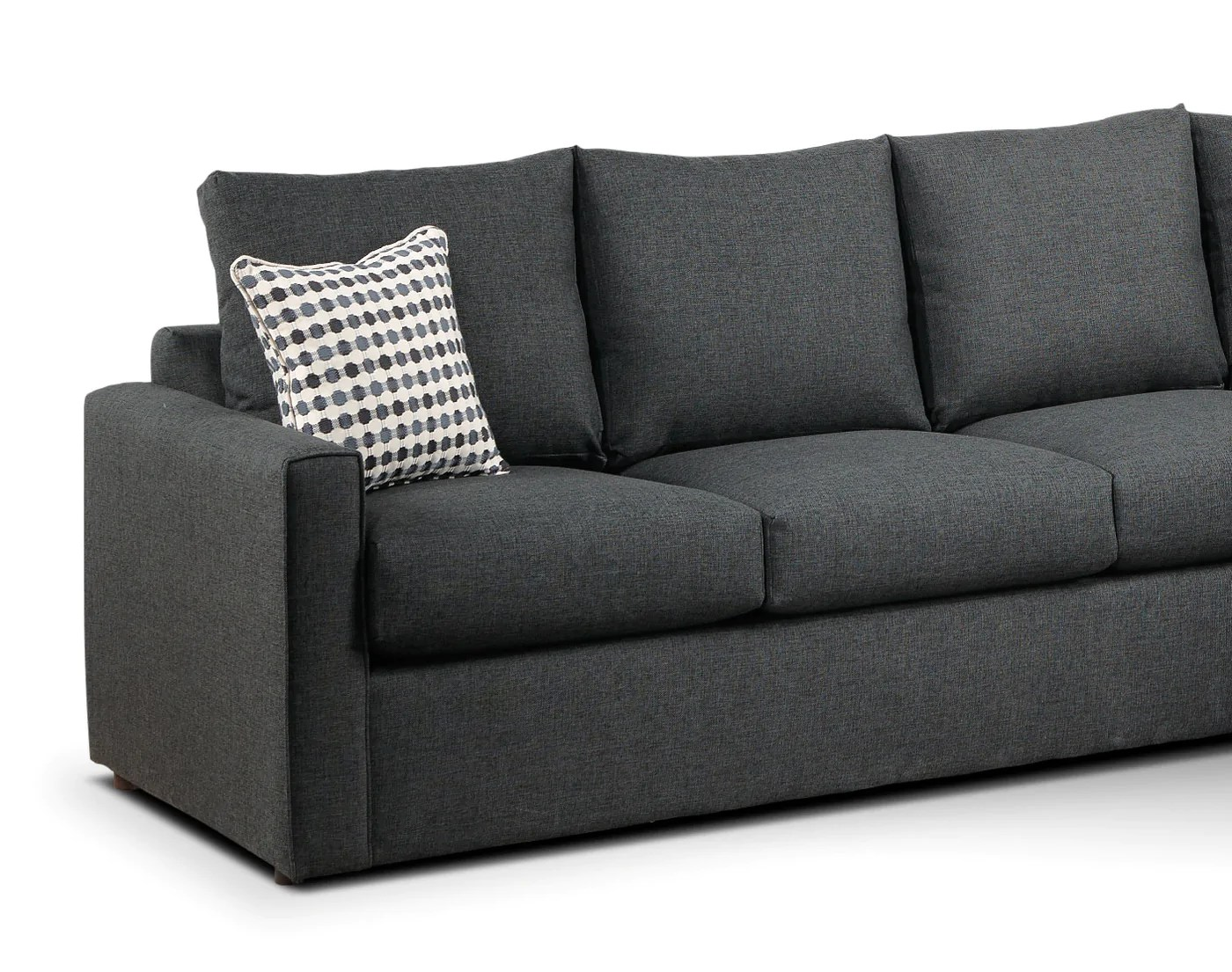Sofa Bed For Sale Toronto Athina 2 Piece Sectional With Left Facing Queen Sofa Bed Charcoal
