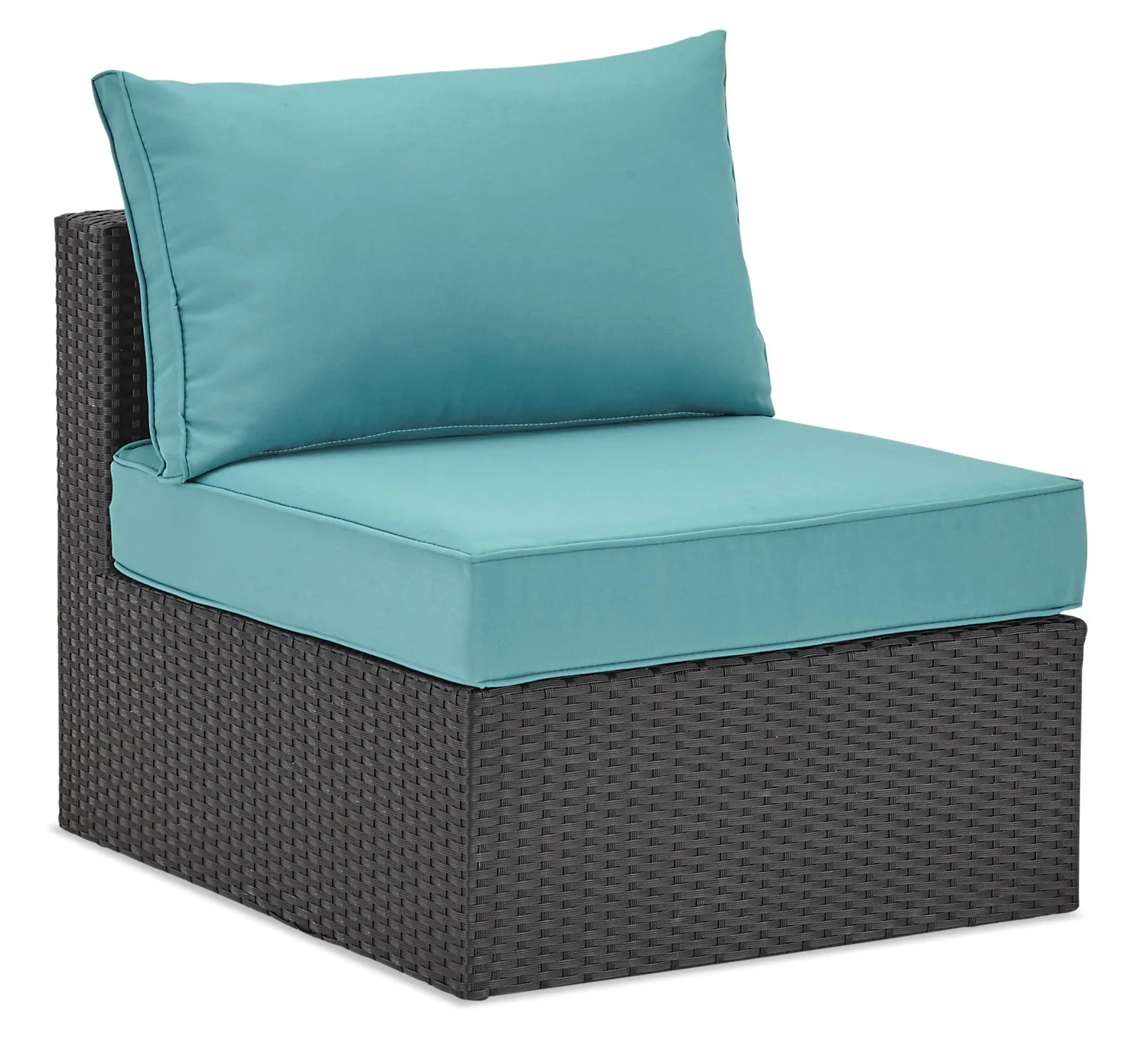 Fauteuil Pour Terrasse Minnesota Armless Patio Chair Blue The Brick