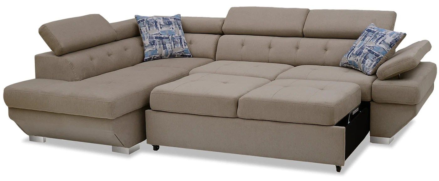 Whirlpool Outdoor Otto Otto 2 Piece Chenille Left Facing Sleeper Sectional Silver