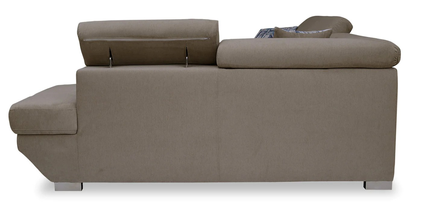 Whirlpool Outdoor Otto Otto 2 Piece Chenille Right Facing Sleeper Sectional Silver