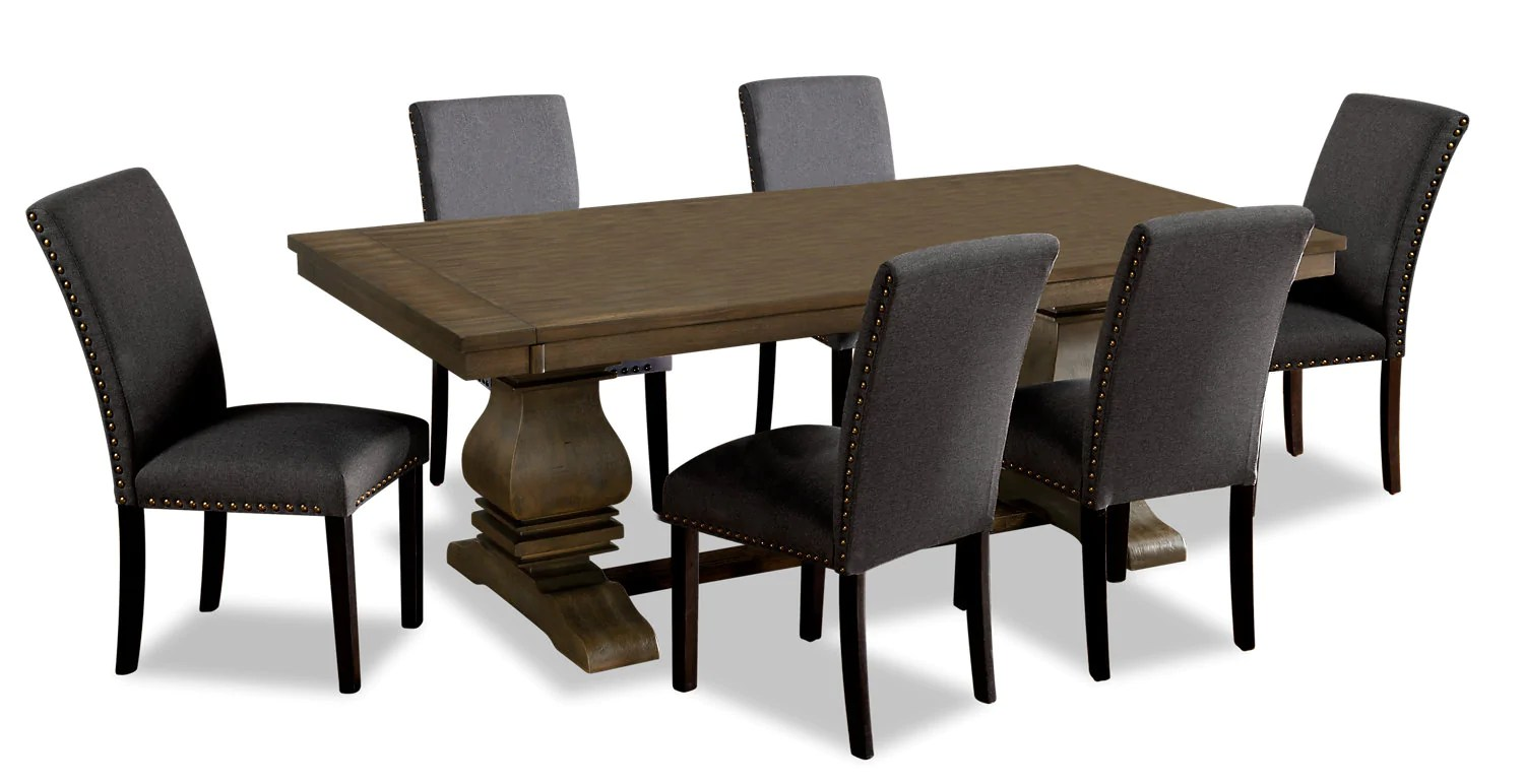 Ensemble Table A Manger Rhys 7 Piece Dining Package Grey