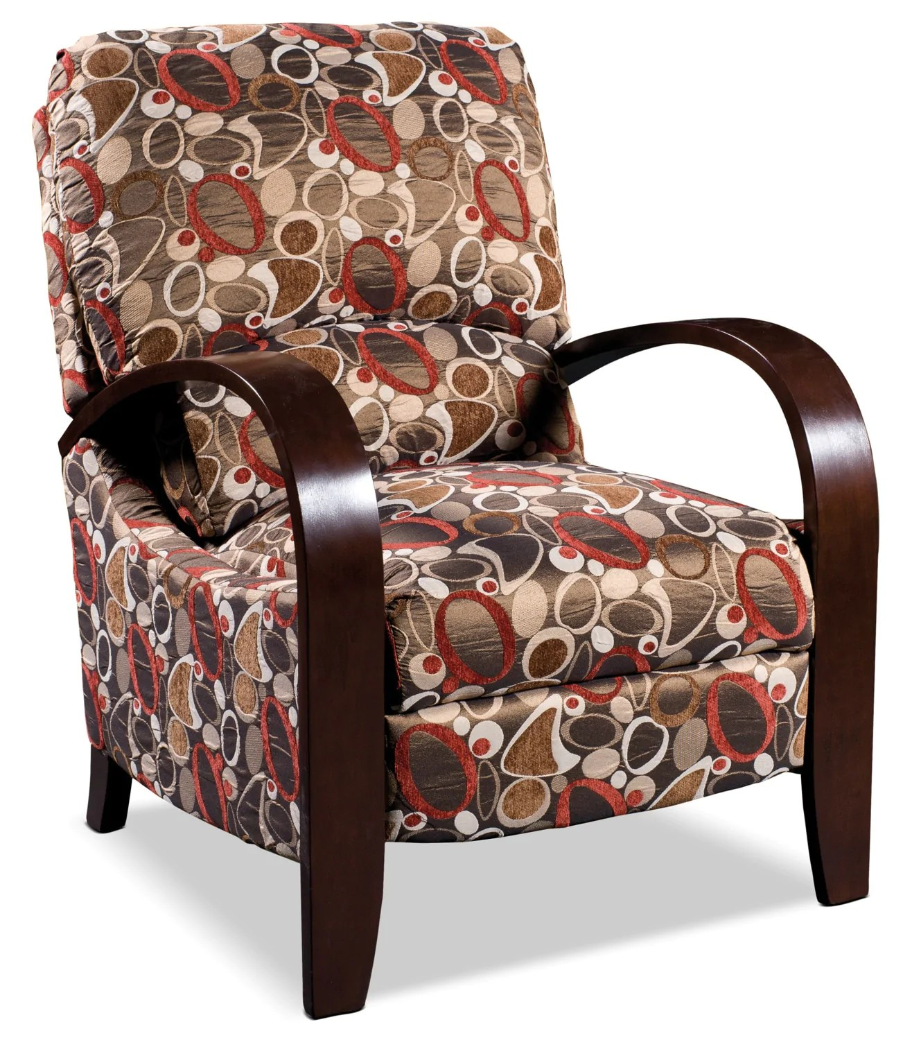 Accent Meuble Fauteuil Inclinable Aaron Reclining Fabric Accent Chair Copper