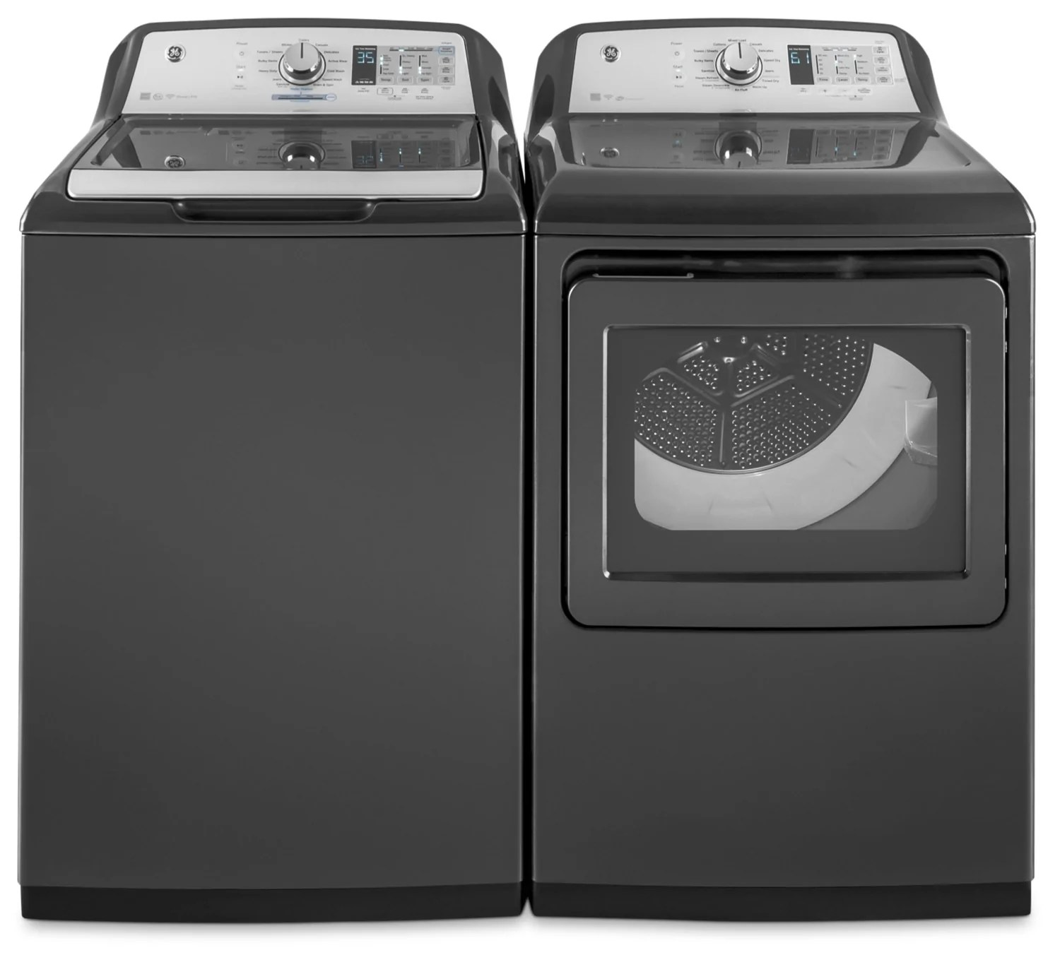 Ge Laveuse Ge 5 3 Cu Ft Top Load Washer And 7 4 Cu Ft Electric Dryer