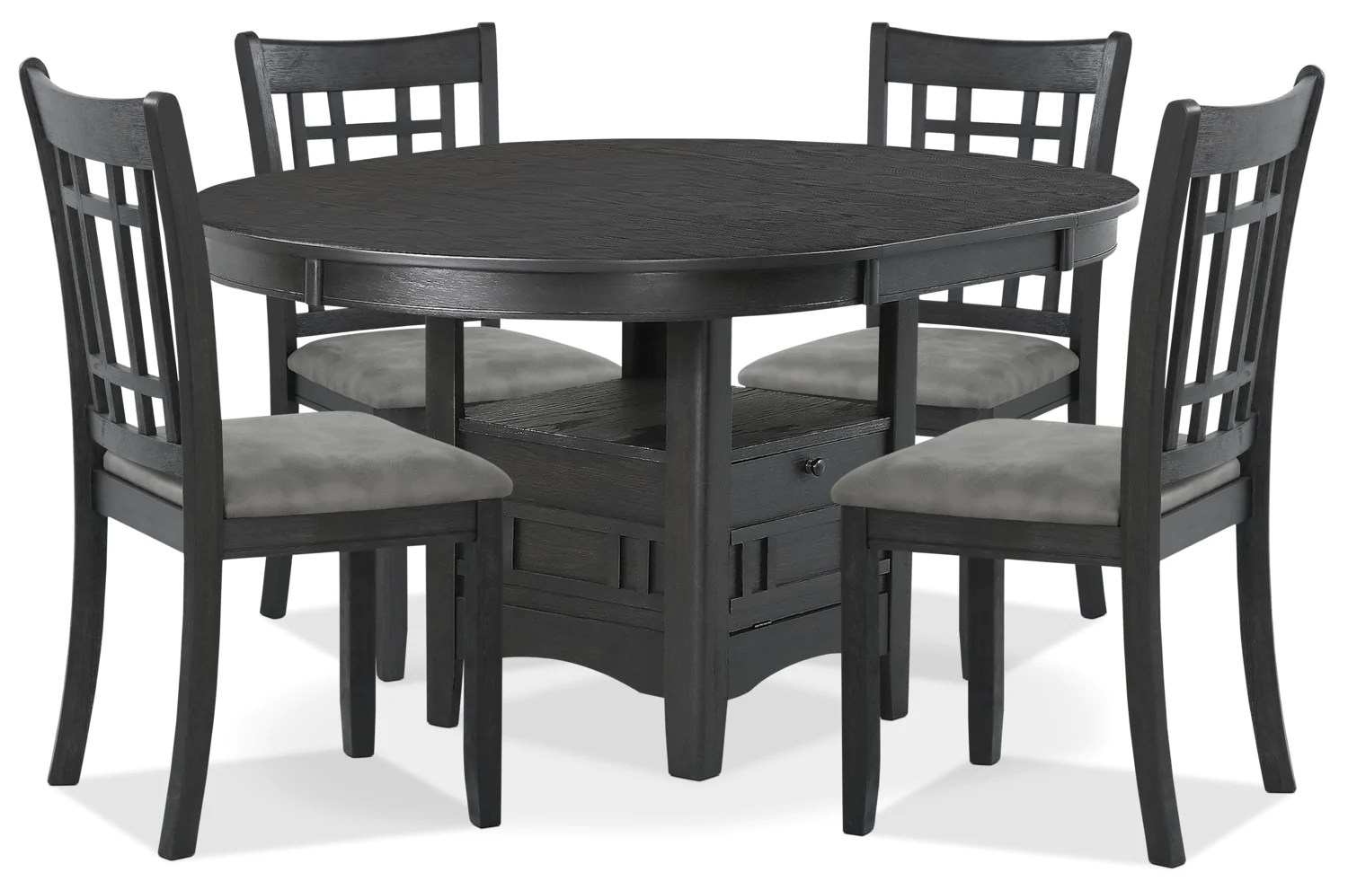 Ensemble Table A Manger Desi 5 Piece Dining Package Charcoal