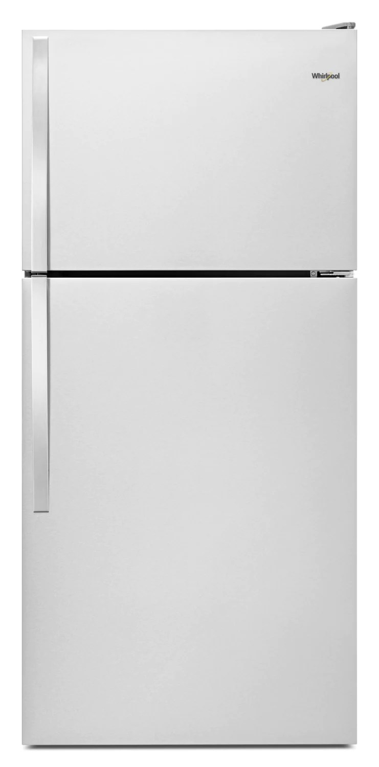 14 Cu Ft Refrigerator Whirlpool 14 Cu Ft Top Freezer Refrigerator Wrt134tfdm