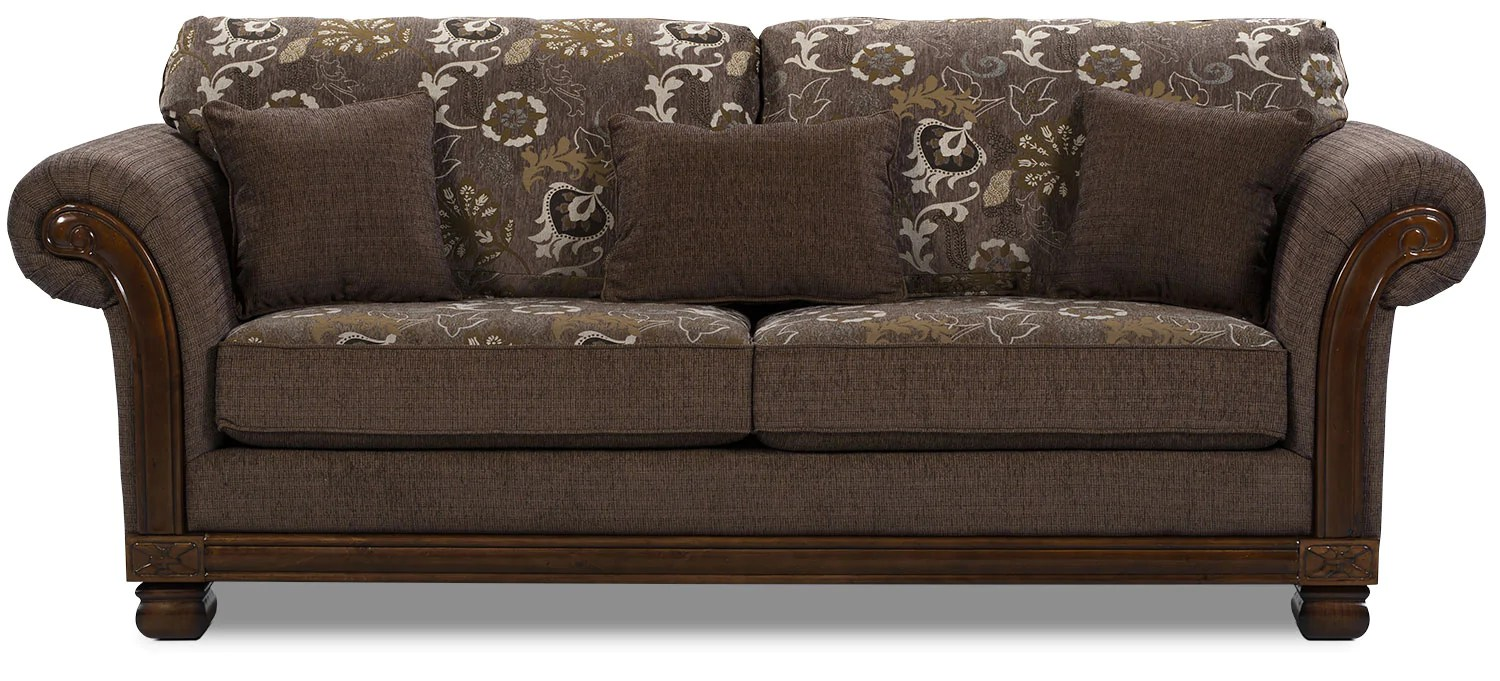 Brick Meubles Divan Lit Hazel Chenille Full Size Sofa Bed Quartz The Brick