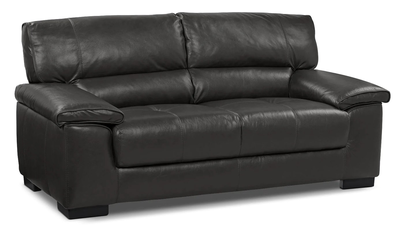 Chateau D Ax Meuble Tv Chateau D Ax 100 Genuine Leather Loveseat Charcoal