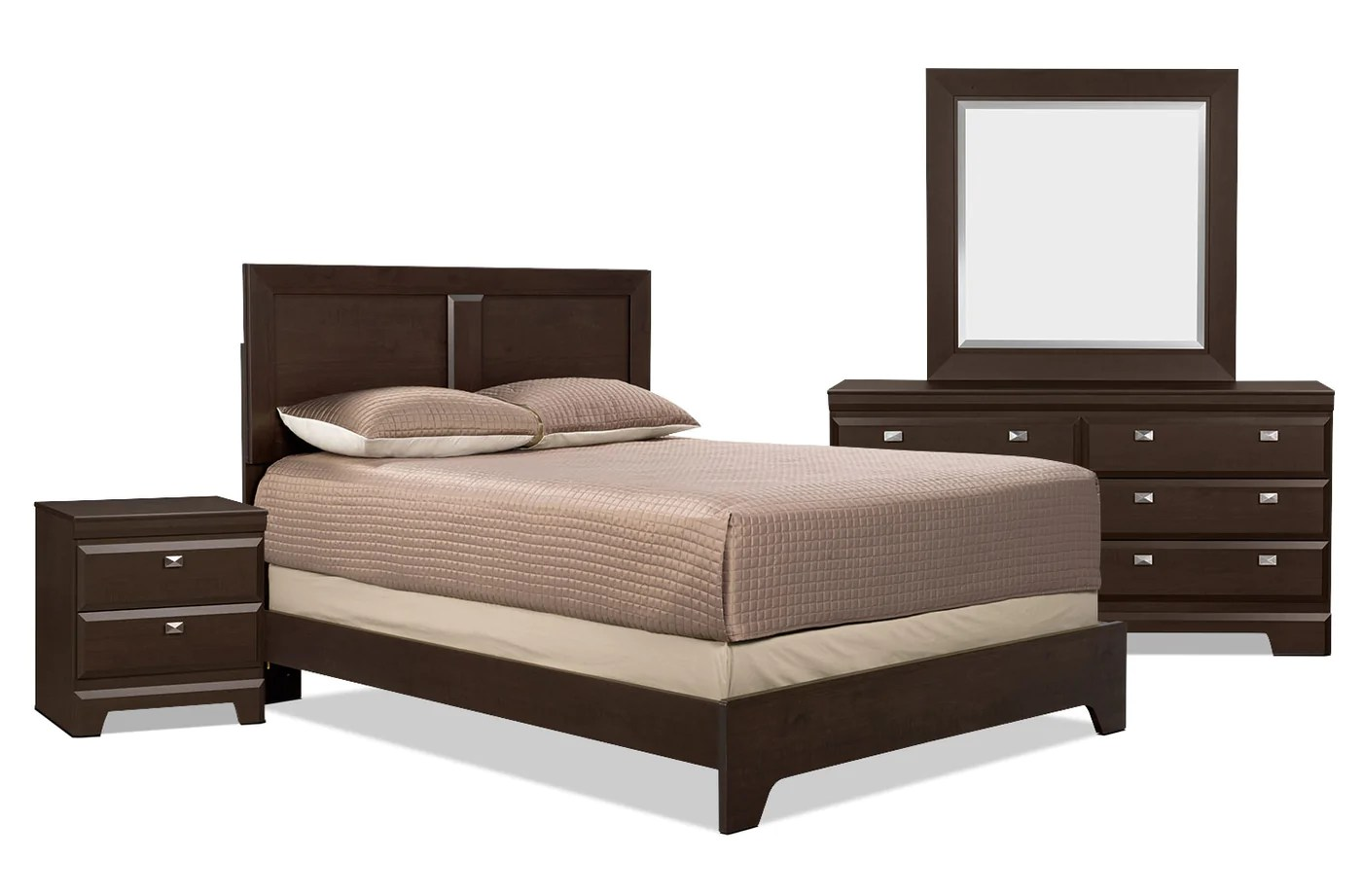 Meuble Aubaine Set De Chambre Yorkdale 6 Piece Queen Bedroom Package