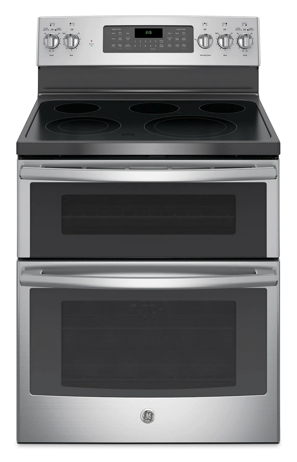 Electric Ovens For Sale Ge 6 6 Cu Ft Freestanding Double Oven Electric Range Jcb865sjss