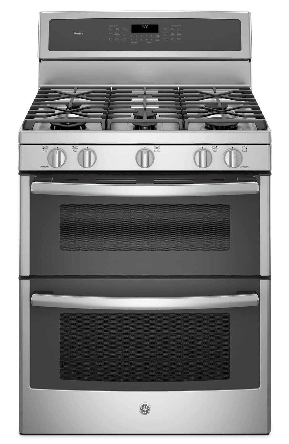 Electromenager Occasion Var Ge 6 8 Cu Ft Freestanding Double Oven Gas Range Pcgb980zejss