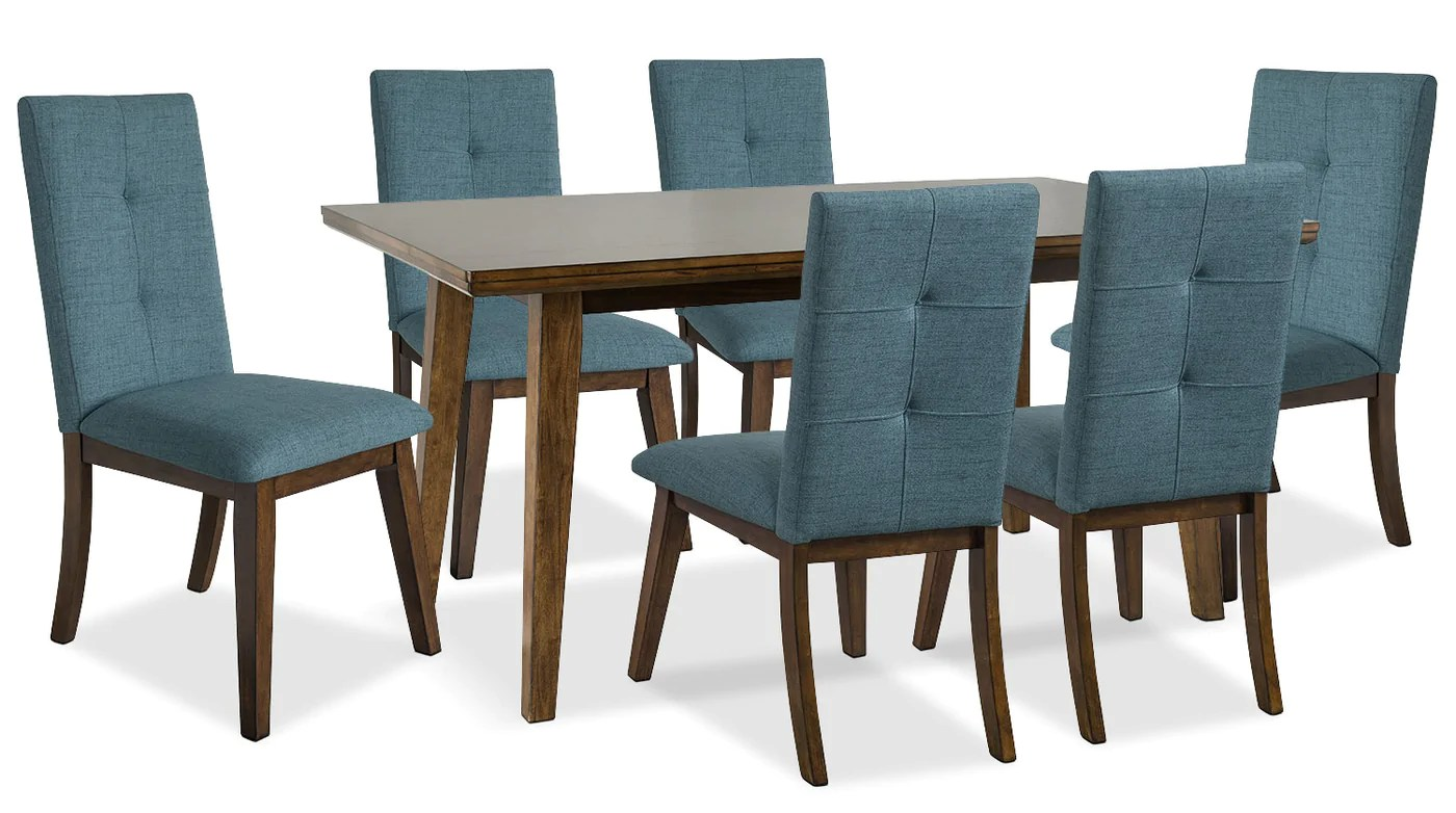 Meuble Accent Base De Lit Chelsea 7 Piece Dining Package With Aqua Chairs