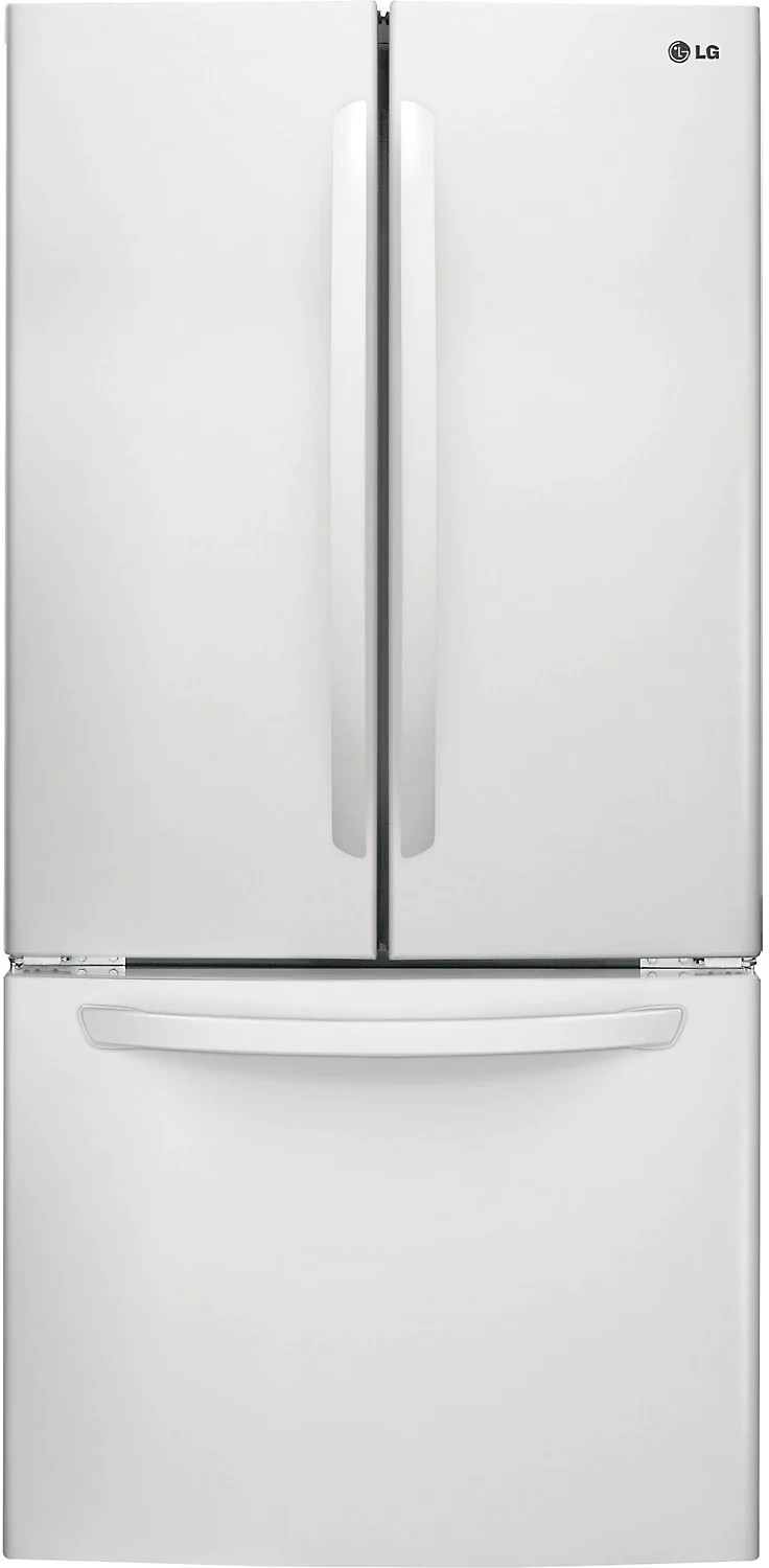 Smart 5 Portes Lg 24 Cu Ft French Door Refrigerator With Smart Cooling System White