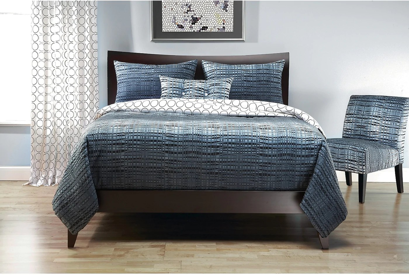 Couette Reversible Interweave Reversible 3 Piece Twin Duvet Cover Set