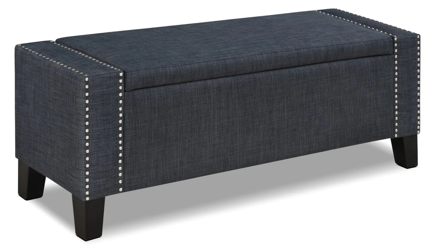 Accent Meuble Financement Milan Storage Ottoman Grey