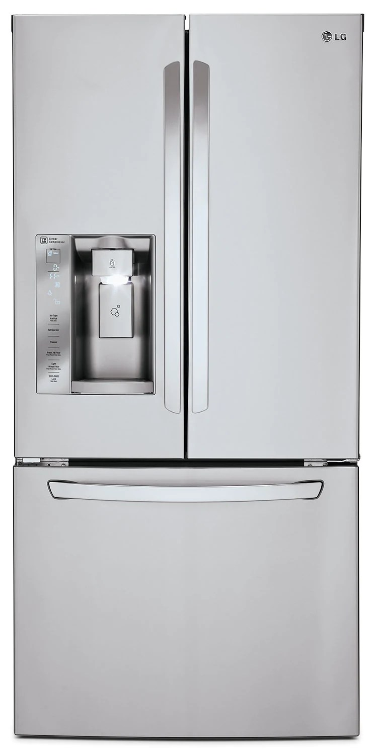 Refrigerateur Lg Lg 24 2 Cu Ft French Door Refrigerator Stainless Steel