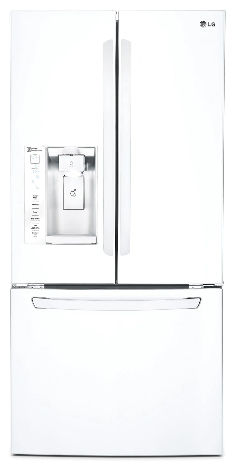 Refrigerateur Lg Lg 24 2 Cu Ft French Door Refrigerator White
