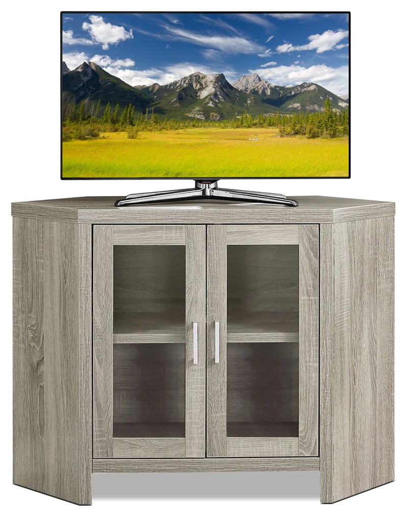 Videt 42 Quot Corner Tv Stand Dark Taupe The Brick