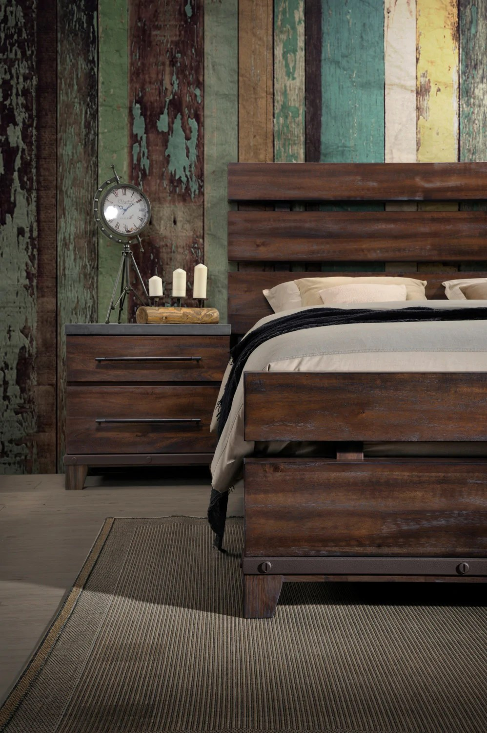 Meuble Aubaine Set De Chambre Forge 6 Piece King Bedroom Package With 2 Nightstands