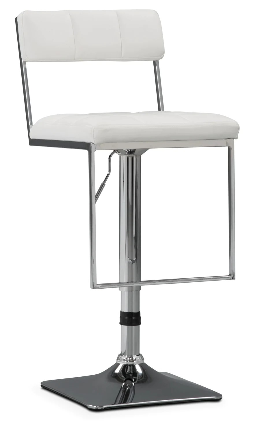 Tabouret Bar Reglable Tabouret Bar Large Et Réglable Corliving à Capitonnage Carré Blanc
