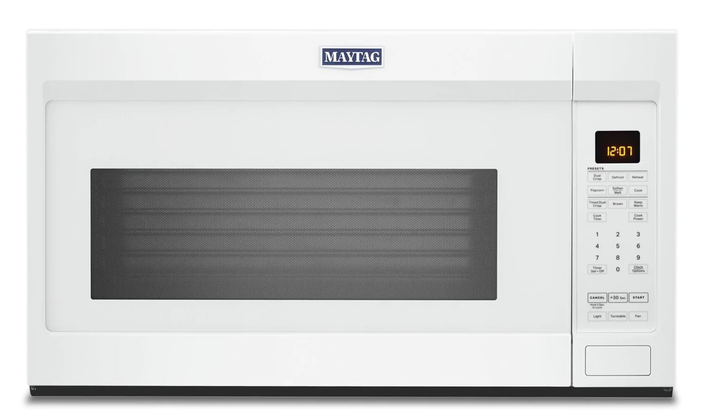 Maytag 1 9 Cu Ft Over The Range Microwave Ymmv4207jw The Brick