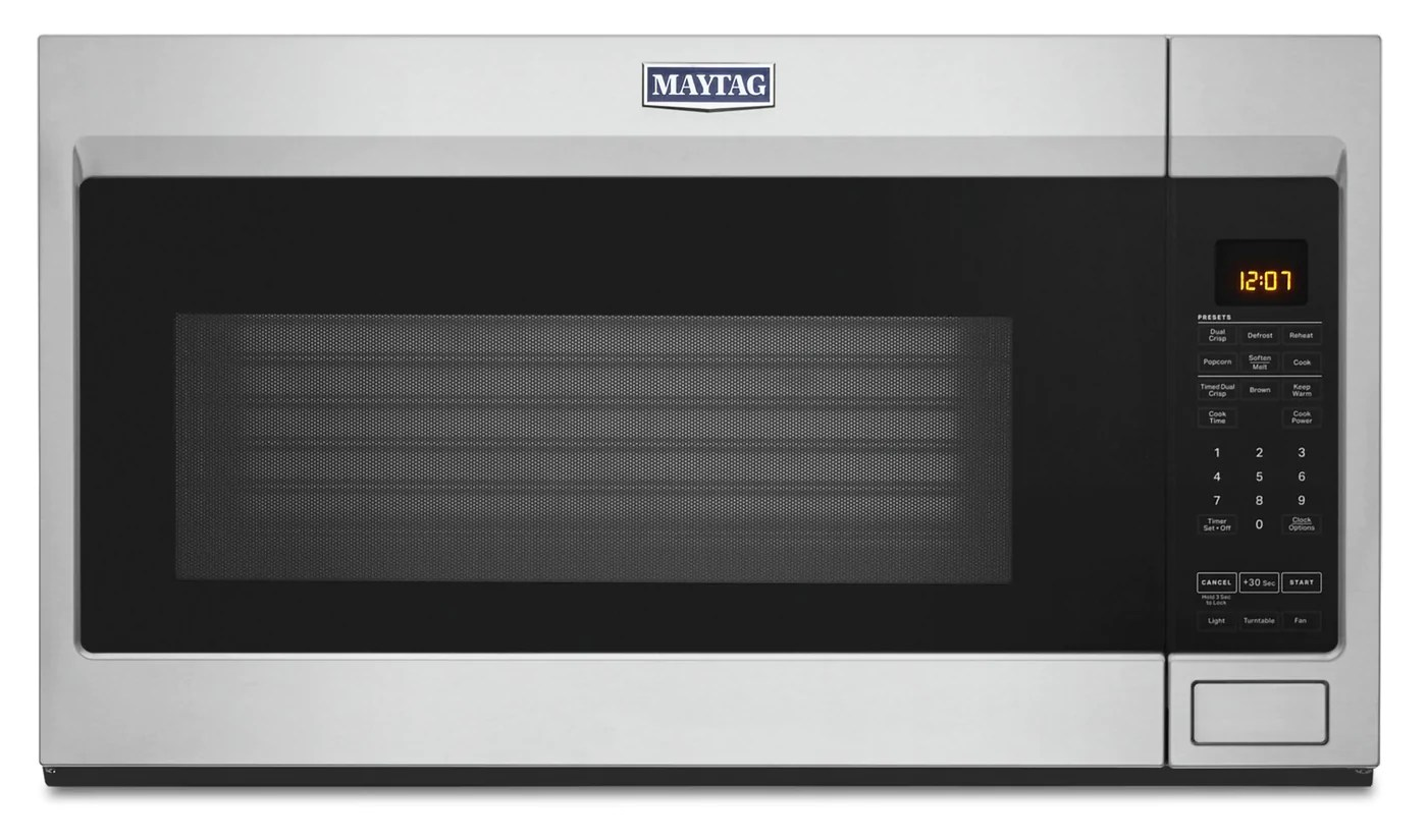 Maytag 1 9 Cu Ft Over The Range Microwave Ymmv4207jz The Brick