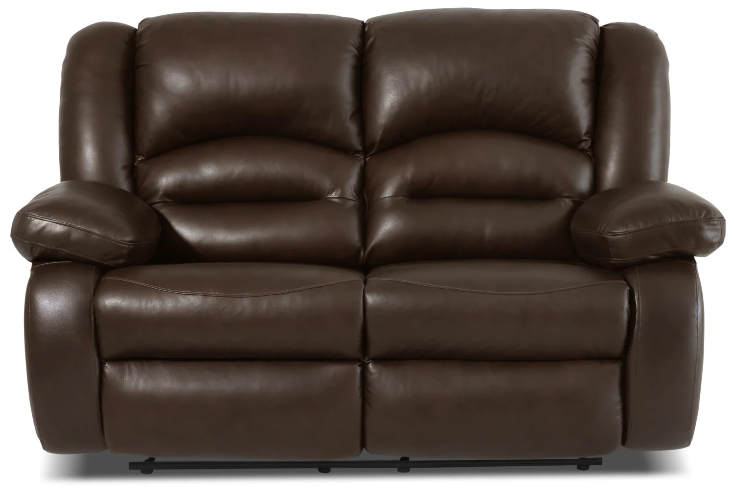 Meuble Accent Base De Lit Toreno Genuine Leather Reclining Loveseat Brown The Brick