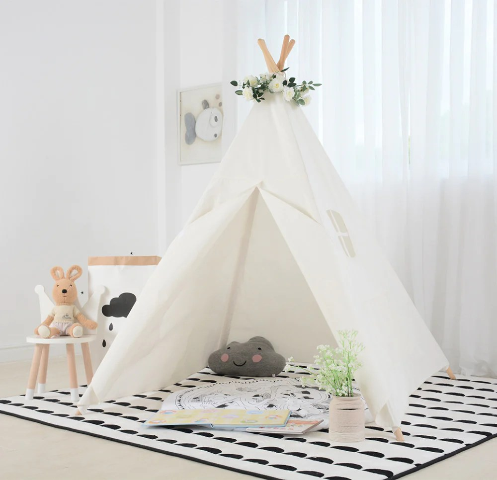 Teepee Kids Kids Teepee Tent In White
