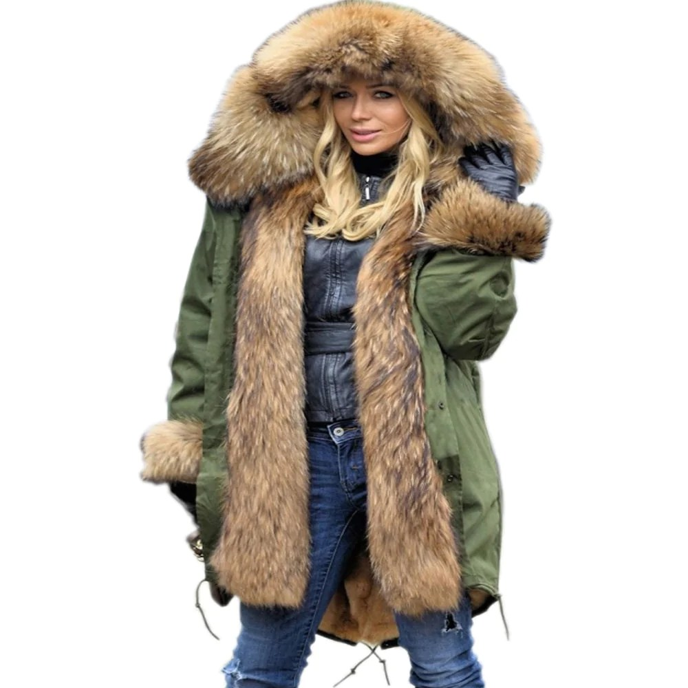 Fur Womens Warm Women Jacket Thick Big Hooded High Waist Faux Fur Coat