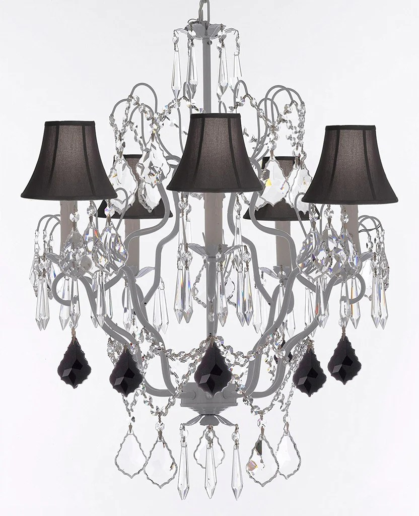Black Wrought Iron Kitchen Light Fixtures White Wrought Iron Crystal Chandeliers Lighting H27