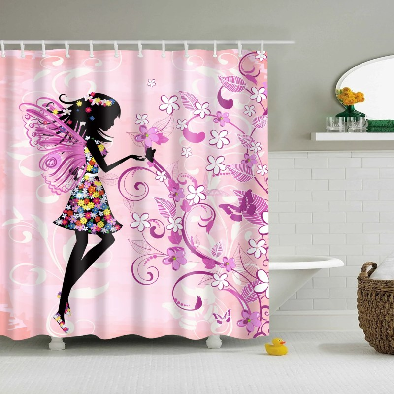 Large Of Butterfly Shower Curtain