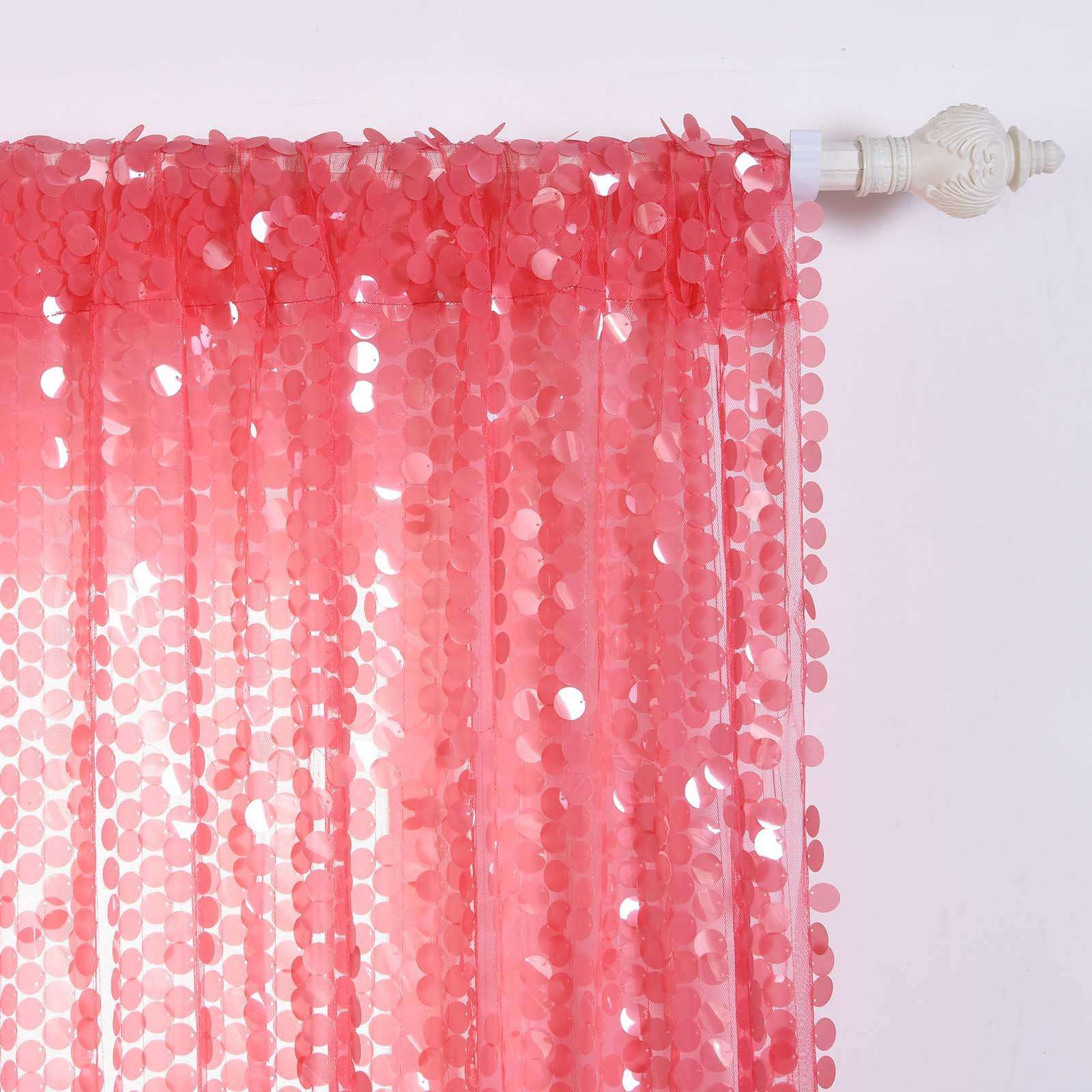 Pink Sequin Curtains Big Payette Sequin Curtains 52x96
