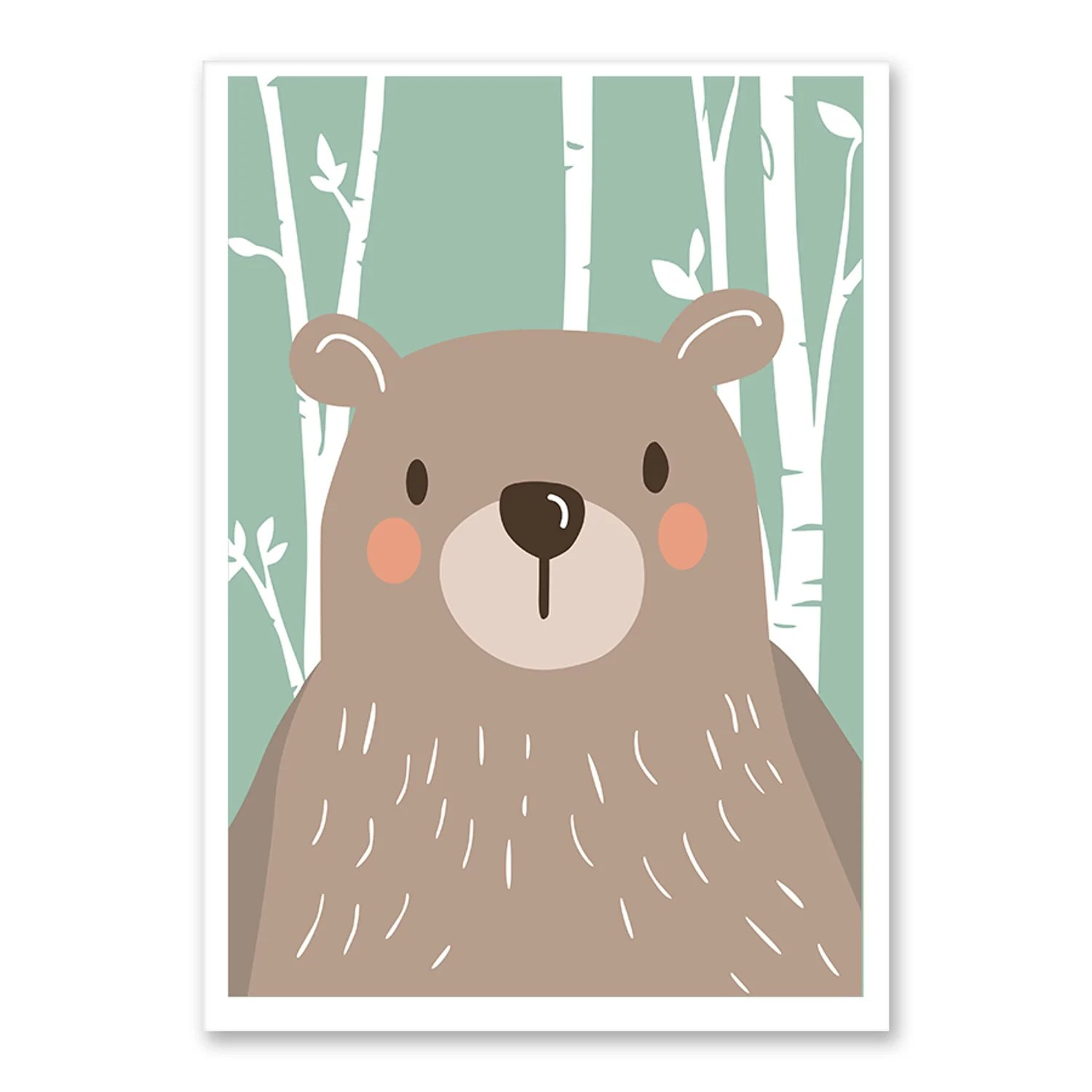 Affiches Scandinaves Affiche Animaux Scandinaves