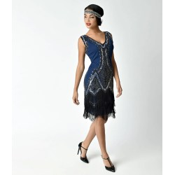 Small Crop Of Navy Blue Cocktail Dress