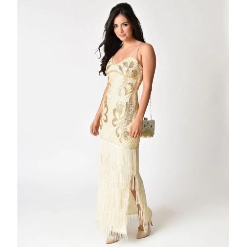 Medium Crop Of Gold Cocktail Dress