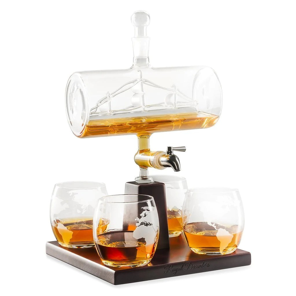 Whiskey Set Sailing Ship Whiskey Decanter Set