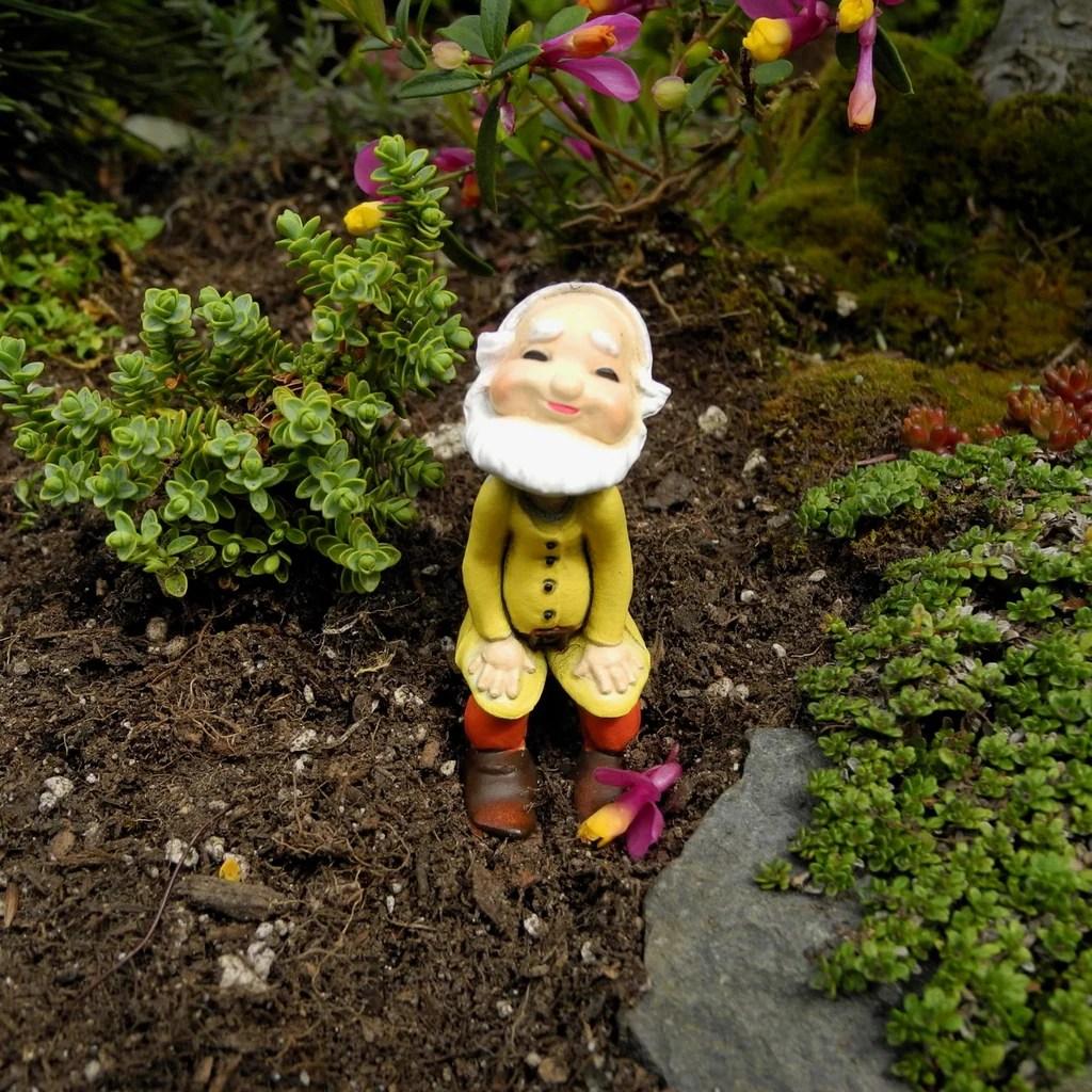 Flagrant Miniature Garden Gnome Helper Gnome Miniature Garden Art Decor Dollhouse Fairy Gardens Mini Gnome Garden Supplies Mini Gnome Garden Decor garden Mini Gnome Gardens