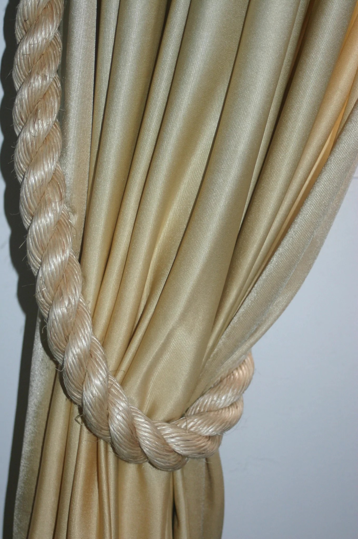 Rope Curtain Thick Rope Curtain Tie Backs Beige