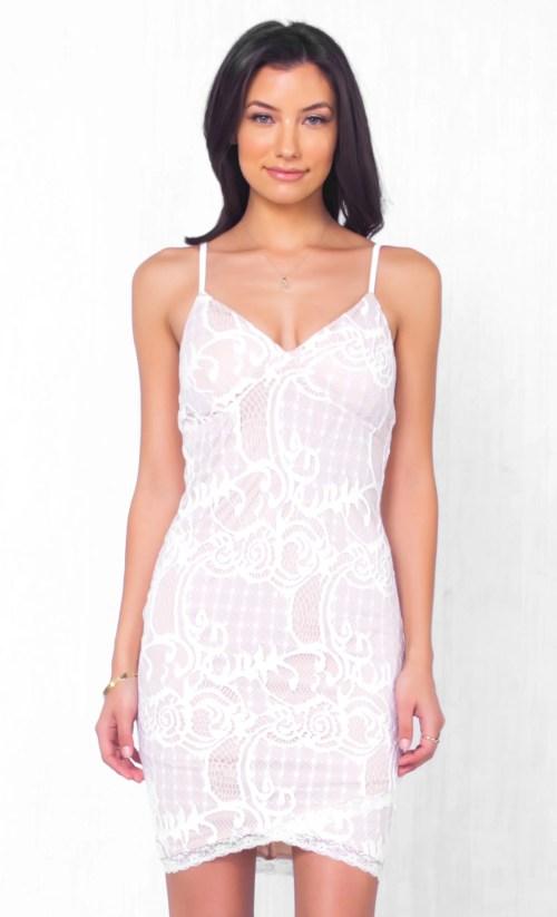 Medium Of White Lace Dresses