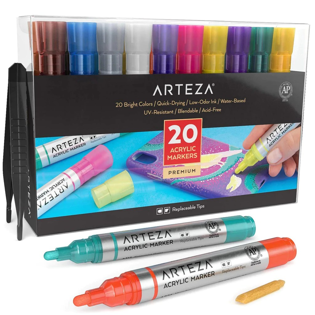 Shop Arteza Acrylic Paint Markers Set Of 20 At Artsy Sister