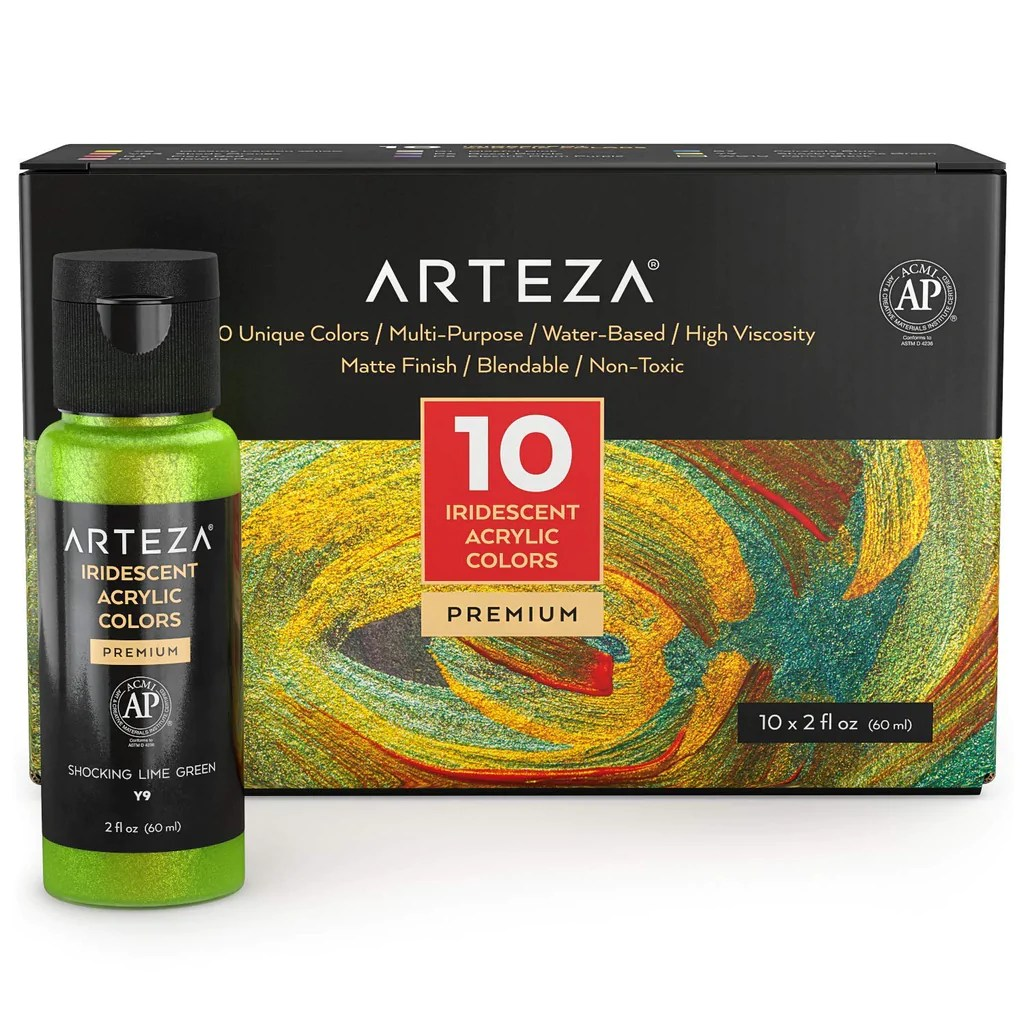 Shop Arteza Iridescent Acrylic Paint Set 60 At Artsy Sister