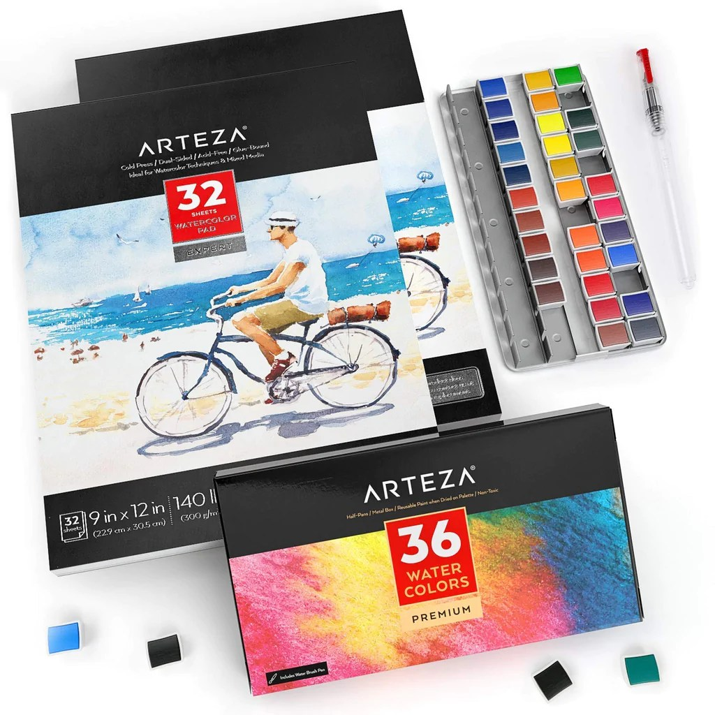 Shop Arteza Watercolor Art Kit 36 Watercolor At Artsy Sister