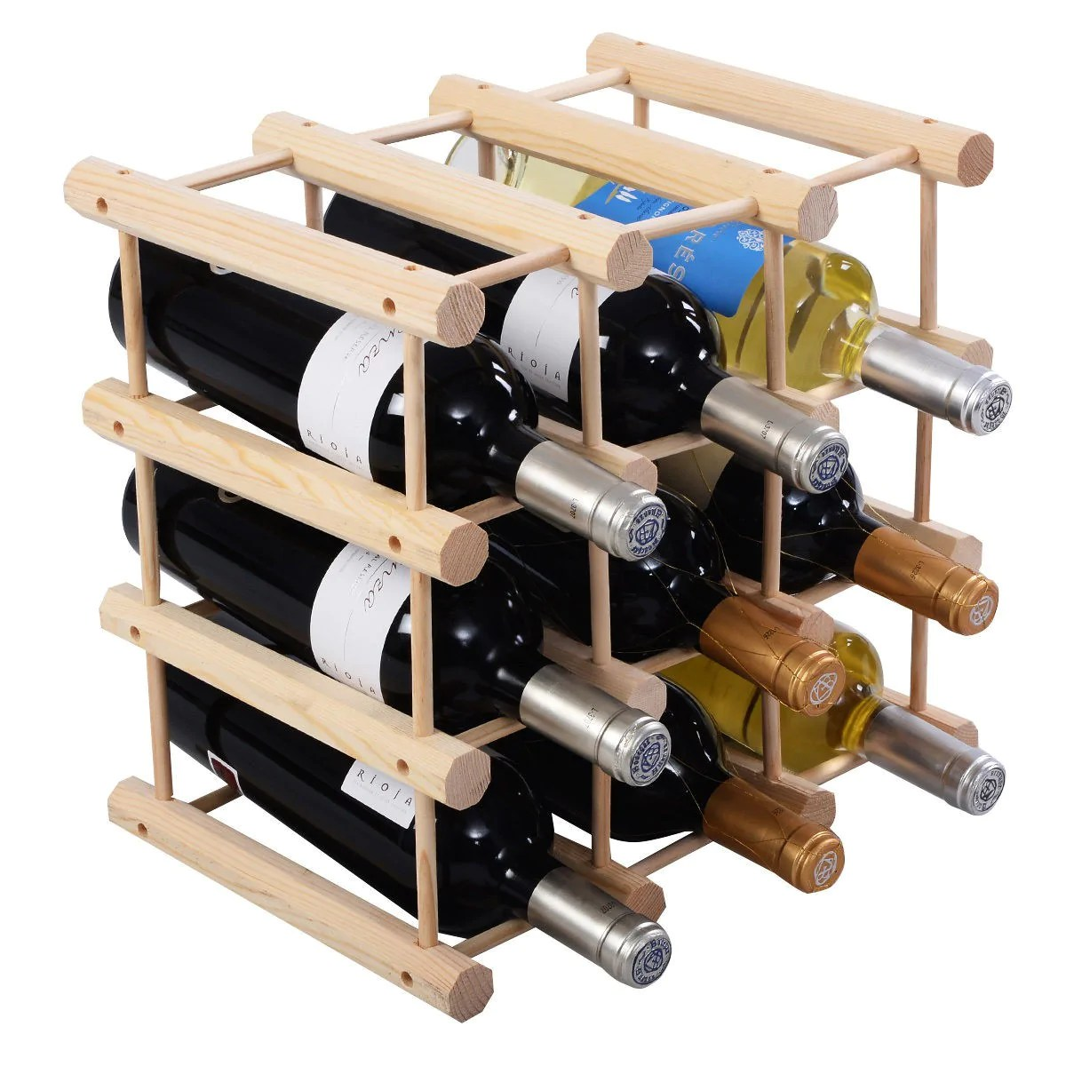 Wooden Bottle Rack Wooden Bottle Rack Wine Holder For 12 Bottles