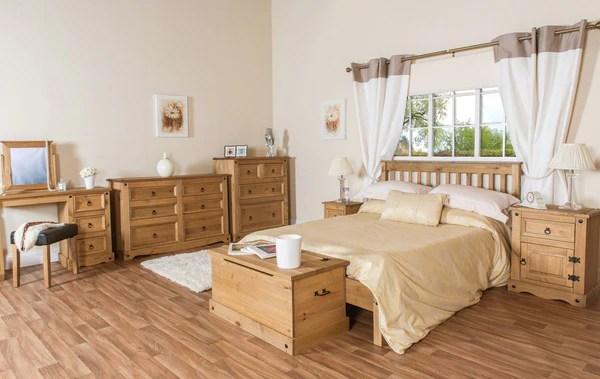 Corona Pine Petite Small 2 Drawer Bedside Cabinet