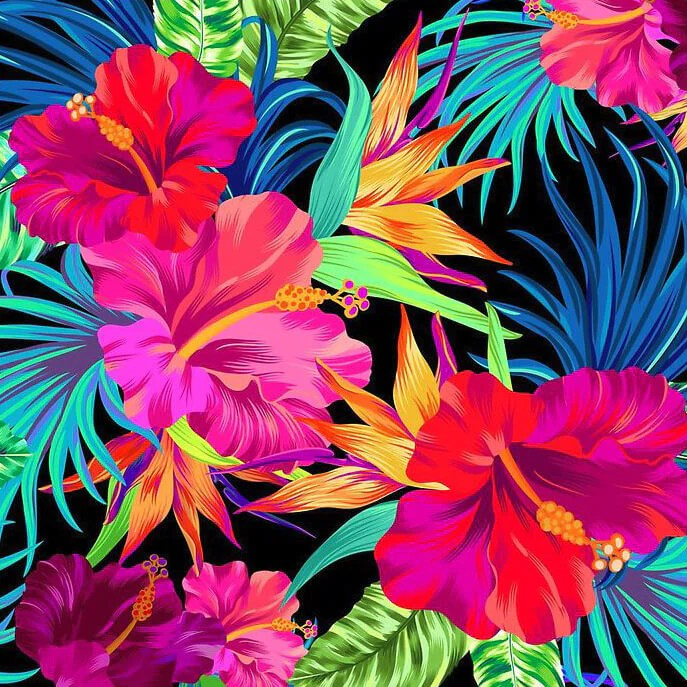 Wolf Wallpaper Iphone Tropical Flowers 5d Diamond Painting Kits Oloee